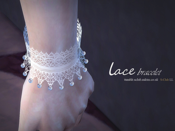 Lace bracelet & gloves by S Club LL at TSR image 5014 Sims 4 Updates