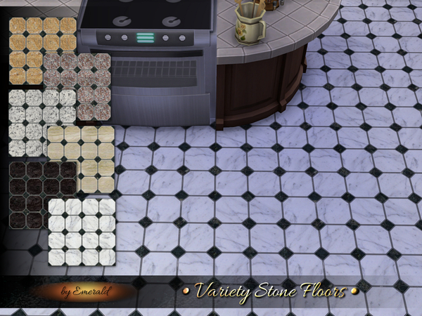 Sims 4 Variety Stone Floors by emerald at TSR