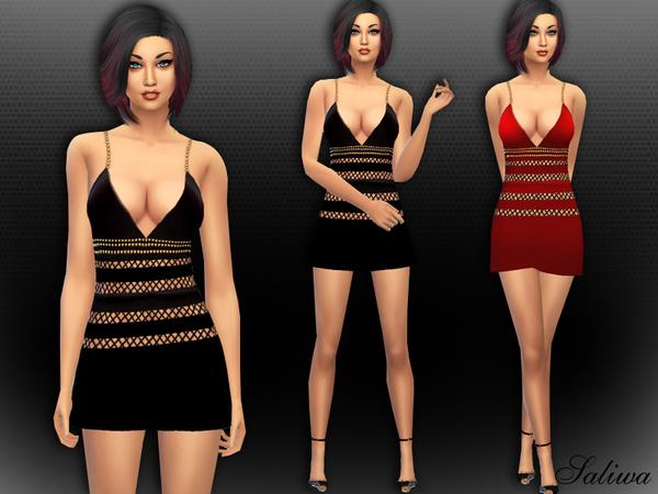 Sims 4 Sophia Bella Dress by Saliwa at TSR