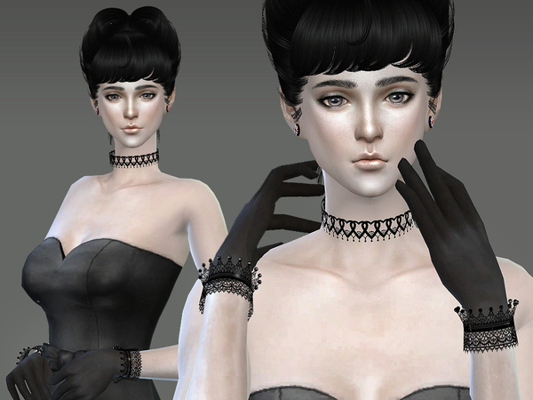 Lace bracelet & gloves by S Club LL at TSR image 5118 Sims 4 Updates