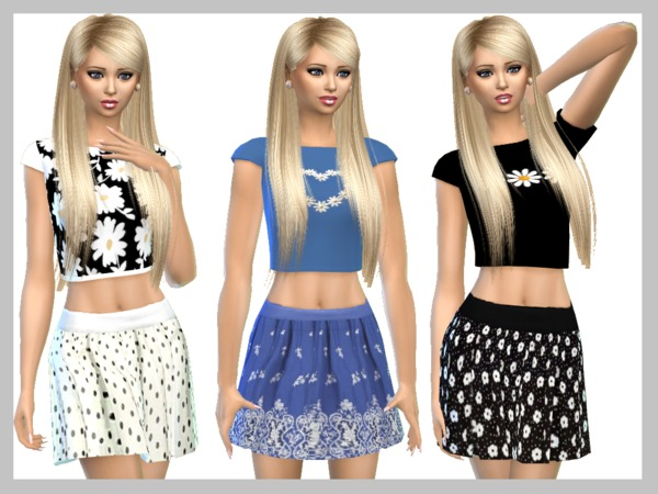 Sims 4 Skirts Set by SweetDreamsZzzzz at TSR