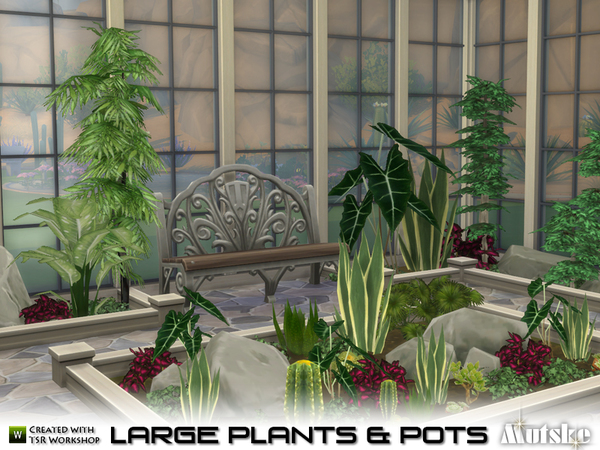 Large Plant and Pots by mutske at TSR image 5211 Sims 4 Updates