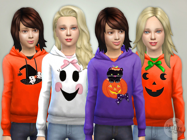 Sims 4 Halloween Hoodie for Girls by lillka at TSR