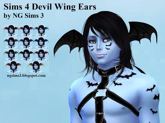 Devil Wing Ears At Ng Sims3 187 Sims 4 Updates