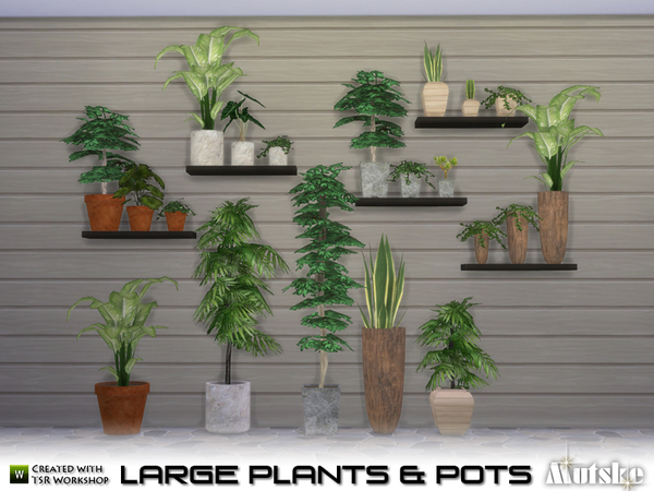 Large Plant and Pots by mutske at TSR image 5310 Sims 4 Updates