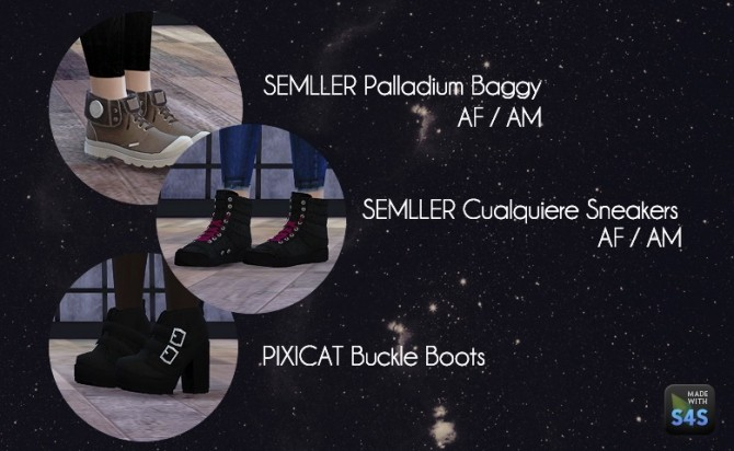 Sims 4 S3/S4 Shoes Conversion at Dream Team Sims