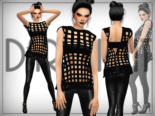 Squares (3D) top by DarkNighTt at TSR image 540 Sims 4 Updates