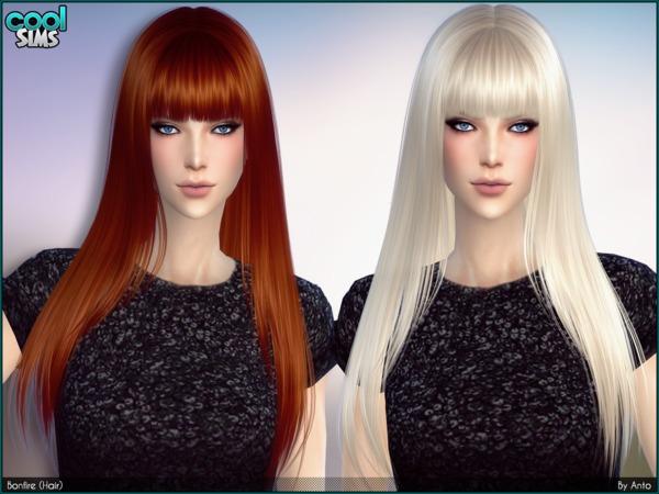 Anto Bonfire Long Straight Hair With Fringe At TSR » Sims