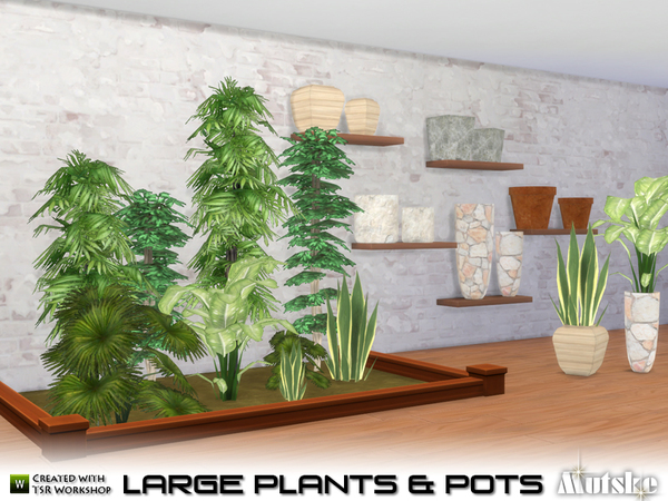 Large Plant and Pots by mutske at TSR image 559 Sims 4 Updates
