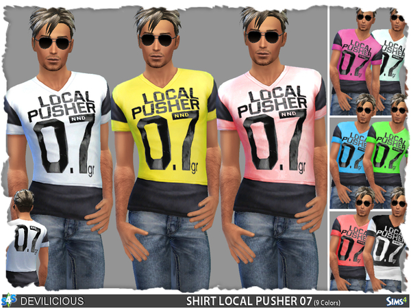 Sims 4 Local Pusher 07 Shirt by Devilicious at TSR