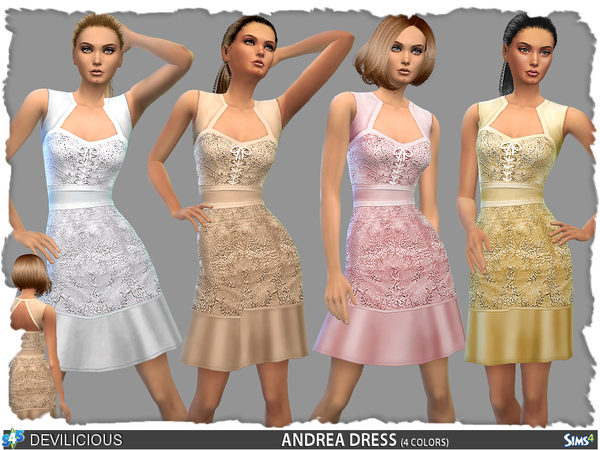Sims 4 Andrea Dress by Devilicious at TSR