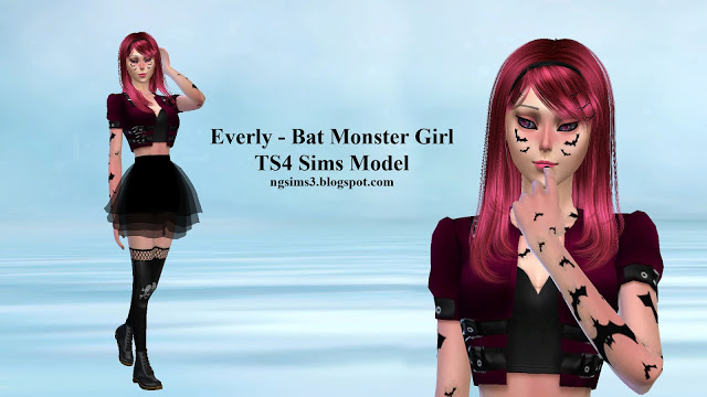 Sims 4 Everly Bat Monster Girl at NG Sims3