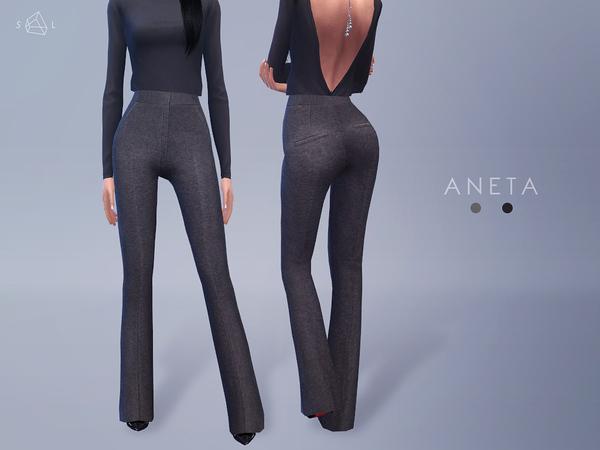 Sims 4 ANETA Flared Pants by starlord at TSR