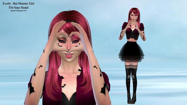 Everly Bat Monster Girl at NG Sims3 image 575 Sims 4 Updates