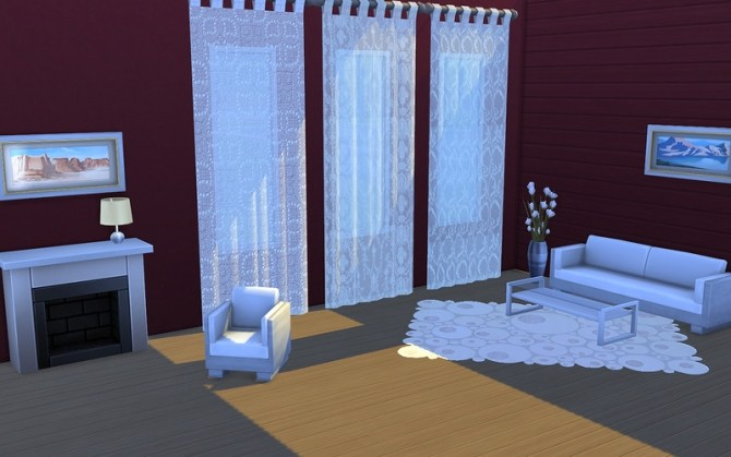 Sims 4 Curtains Limpidity by ihelen at ihelensims