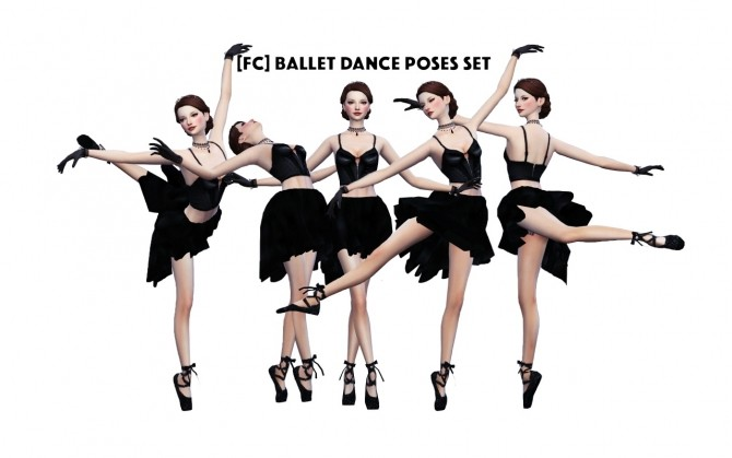 BALLET DANCE POSES SET at Flower Chamber image 5817 670x419 Sims 4 Updates