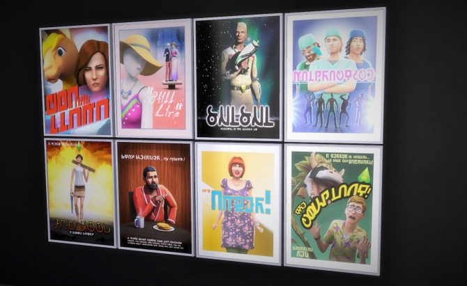 Simlish Cinema Posters At Budgie2budgie 187 Sims 4 Updates