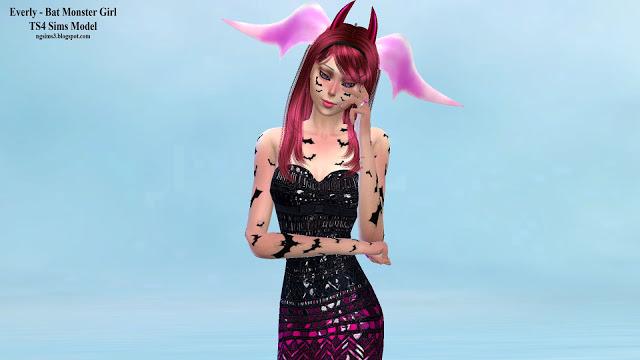 Everly Bat Monster Girl at NG Sims3 image 586 Sims 4 Updates