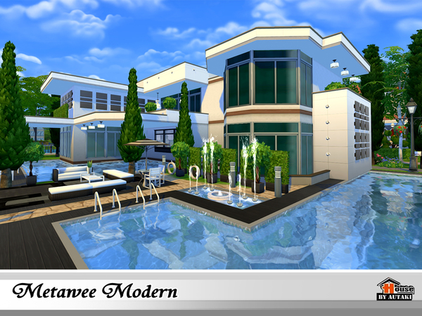 Metawee Modern House By Autaki At TSR Sims 4 Updates