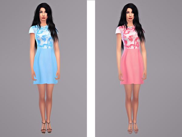 Sims 4 Naoko dress by tangerinesimblr at TSR