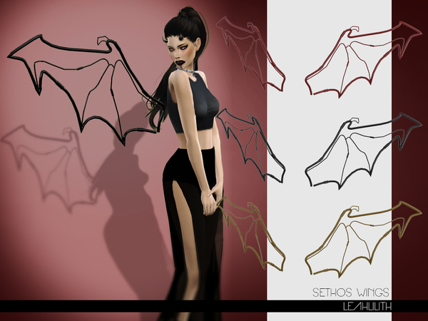 Sims 4 Sethos Wings by LeahLilith at TSR