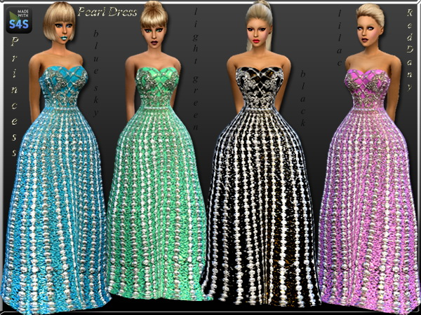 Dress Princess Pearl at Dany's Blog image 6010 Sims 4 Updates