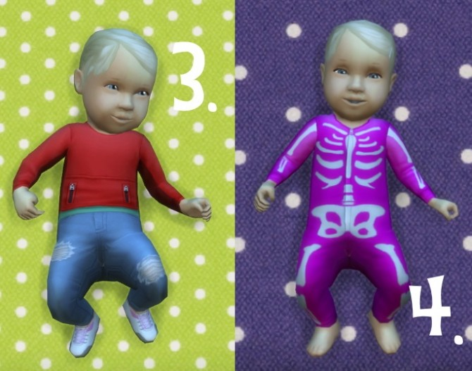 Sims 4 Baby Overrides: Set 10 Light Skin/Girl + Blond at Budgie2budgie