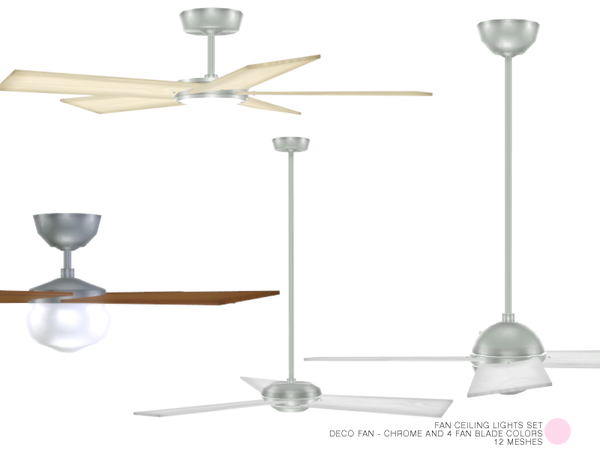Sims 4 Fan Ceiling Lights Set by DOT at TSR