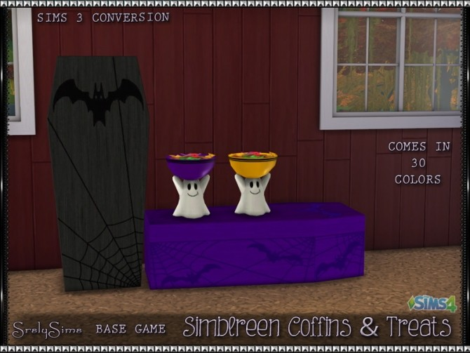 Sims 4 Coffins and Ghost Treat Bowl at SrslySims