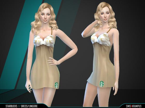 Starbucks Dress by SIms4Krampus at TSR image 6419 Sims 4 Updates