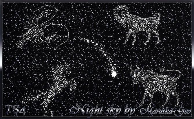 Sims 4 Night Sky Seth lamps at Maruska Geo