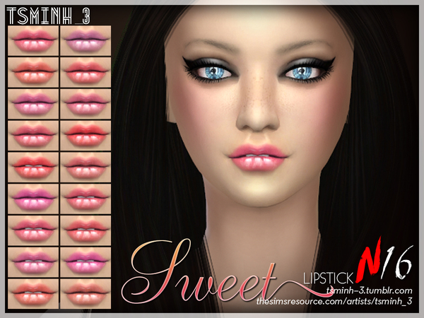 Sweet Lipstick by tsminh 3 at TSR image 6710 Sims 4 Updates