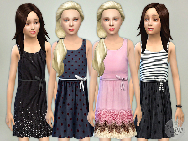 Sims 4 Designer Dresses Collection P03 by lillka at TSR
