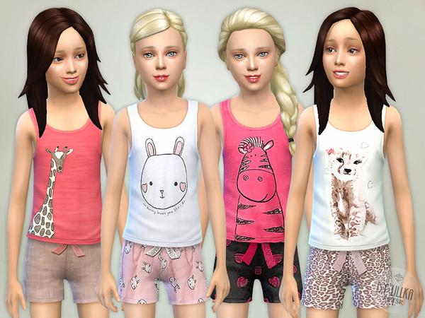 Sims 4 Good Night Pyjama Set by Lillka at TSR