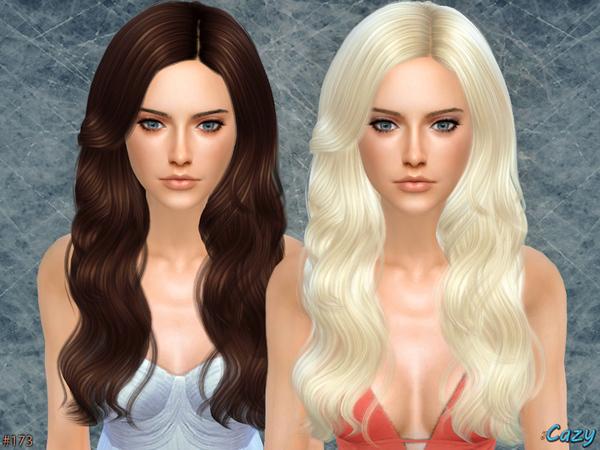 Sims 4 Raindrops Female Hair by Cazy at TSR