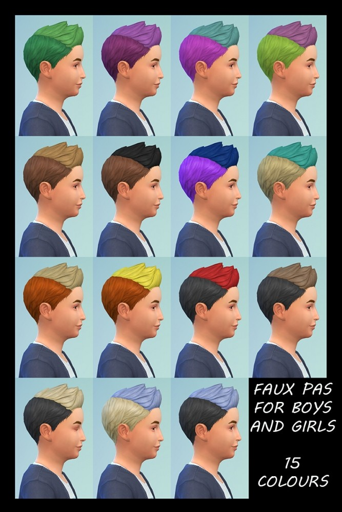 Sims 4 Childrens New Dos 4 Base Hairstyles Recoloured by Simmiller at Mod The Sims