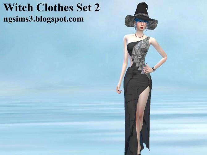 Sims 4 Witch Clothes Set 2 at NG Sims3