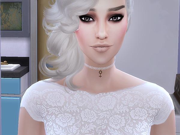 Sims 4 PZC Diamond Wedding Gown by Pinkzombiecupcakes at TSR