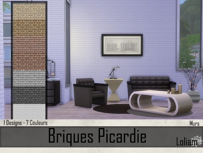 Picardie brick walls by Loliam at Sims Artists image 7811 670x503 Sims 4 Updates