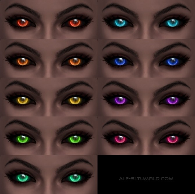 Sims 4 Neon eyes at Alf si