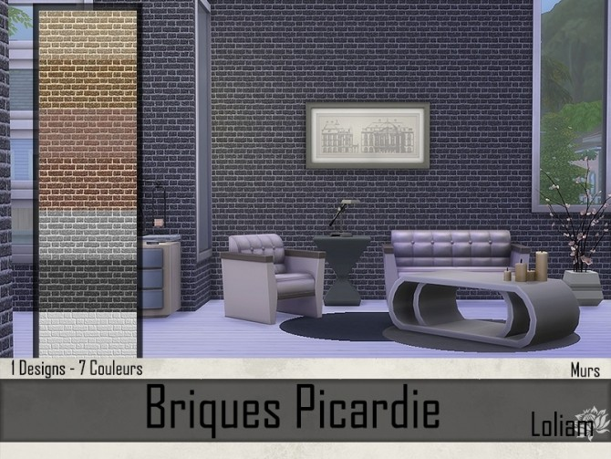 Picardie brick walls by Loliam at Sims Artists image 7914 670x503 Sims 4 Updates