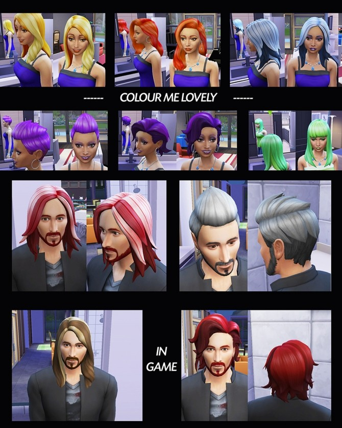 6 Base Game Hairs Recoloured by Simmiller at Mod The Sims image 7915 670x838 Sims 4 Updates
