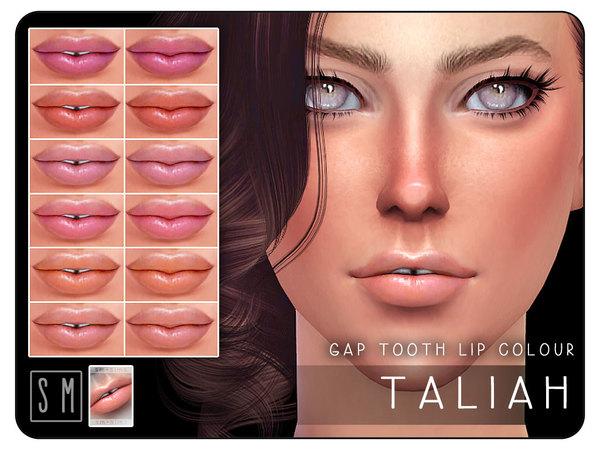 Sims 4 Taliah Gap Tooth Lip Colour by Screaming Mustard at TSR