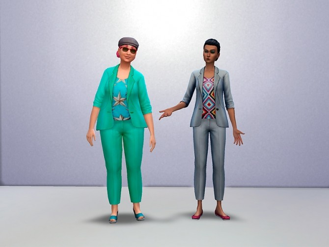 Patterned Shirt with Matching Jacket and Pants by Weeaboo at Mod The Sims image 797 670x503 Sims 4 Updates