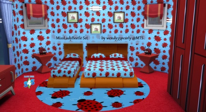 Sims 4 Cute Kid/Teen Bedroom Set by wendy35pearly at Mod The Sims
