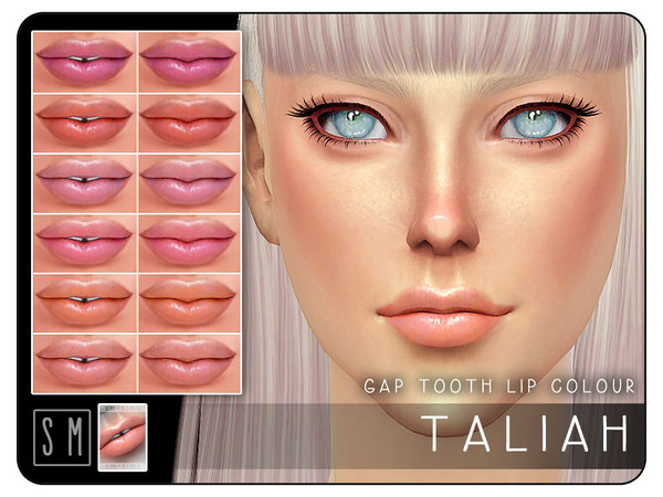 Taliah Gap Tooth Lip Colour by Screaming Mustard at TSR image 804 Sims 4 Updates