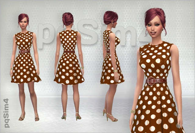 Sims 4 Pretty Woman dresses at pqSims4
