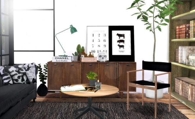 Sims 4 ExoticElement's dining chair + poster recolors at Hvikis