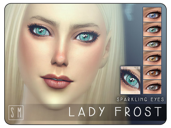 Sims 4 Lady Frost Sparkling Eyes by Screaming Mustard at TSR
