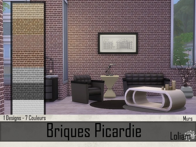 Picardie brick walls by Loliam at Sims Artists image 8118 670x503 Sims 4 Updates
